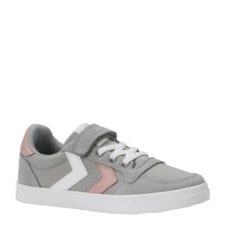 hummel Slimmer Stadil Low sneakers grijs/roze wit (grijs)