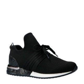 La Strada sneakers zwart met slangenprint (zwart)