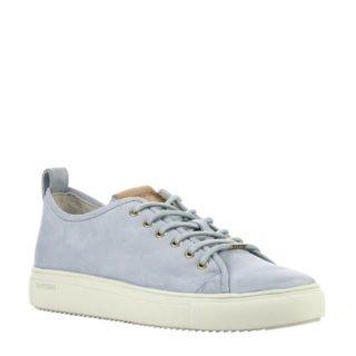 Blackstone nubuck sneakers lichtblauw (blauw)