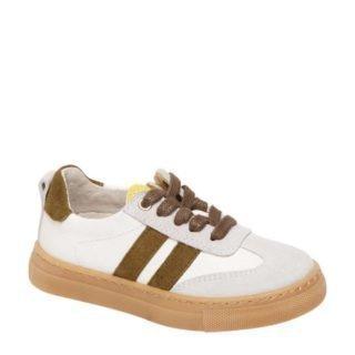 Bobbi-Shoes leren sneakers wit/bruin (wit)