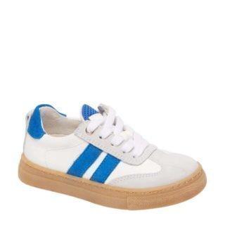 Bobbi-Shoes leren sneakers wit/blauw (wit)