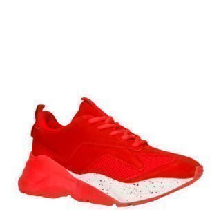 Bianco suède sneakers rood (rood)