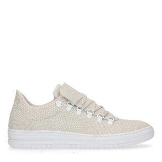 Manfield leren sneakers beige (beige)