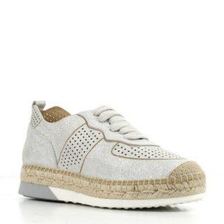 Kanna leren espadrille sneakers zilver (zilver)
