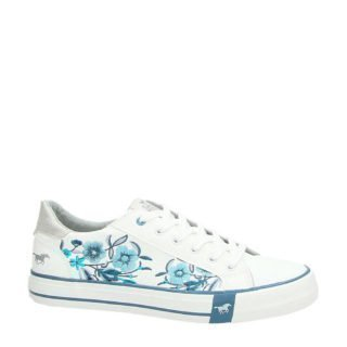 Mustang sneakers wit/blauw (wit)