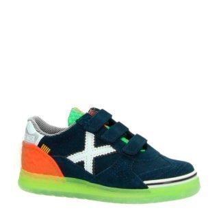 Munich Velcro suède sneakers donkerblauw (blauw)