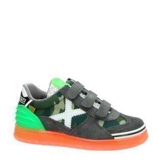 Munich Velcro suède sneakers kaki (groen)