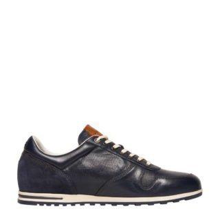 Van Lier leren sneakers donkerblauw (blauw)