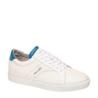 Van Lier leren sneakers wit/blauw (wit)