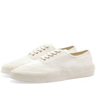 Maison Kitsuné Canvas Laced Sneaker (White)