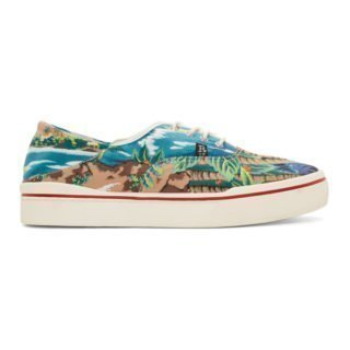 R13 Blue Wave Island Lace-Up Sneakers