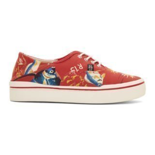 R13 Red Fish Lace-Up Sneakers