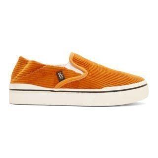 R13 Orange Corduroy Slip-On Sneakers
