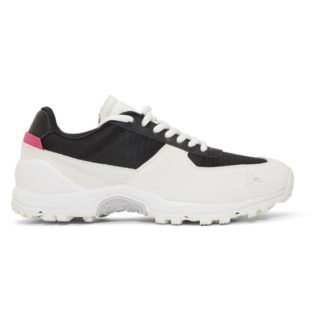 ROA Off-White and Black Vincent Sneakers