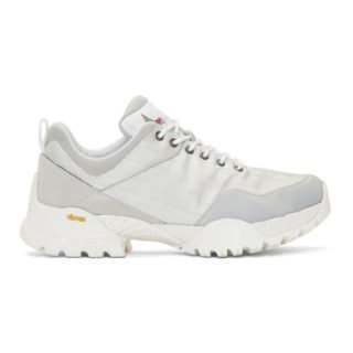 ROA Silver Oblique Sneakers