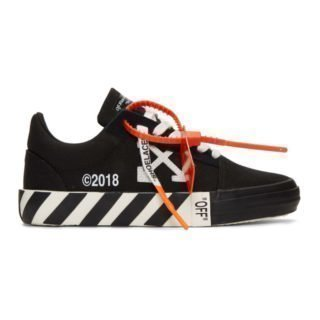 Off-White Black Striped Vulcanized Sneakers