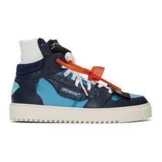 Off-White Blue and Navy 3.0 Off Court Sneakers