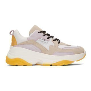 Won Hundred White and Taupe Nika Sneakers