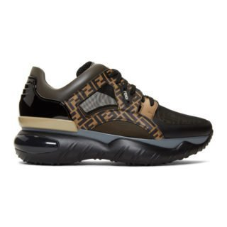 Fendi Black and Brown Forever Fendi Sneakers