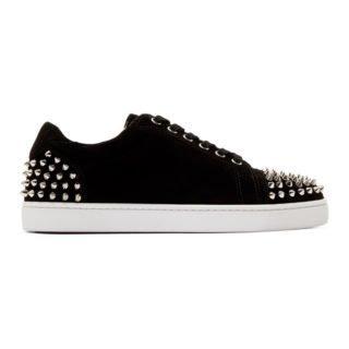 Christian Louboutin Black Suede Seavaste 2 Sneakers