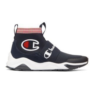 Champion Reverse Weave Navy Rally Pro Sock Sneakers