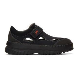 Kiko Kostadinov Black Camper Edition Teix Strap Sneakers