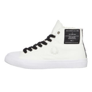 Fred Perry Hughes Mid Canvas (wit/wit)