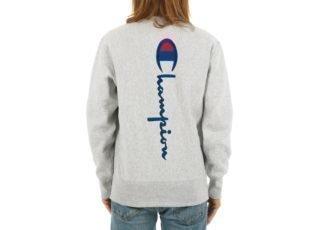 Champion Crewneck Sweatshirt (Heather Grey)