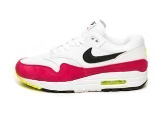 Nike Air Max 1 (White / Black - Volt - Rush Pink)