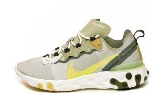 Nike React Element 55 (Spruce Aura / Volt - Spruce Fog - Barely Volt)