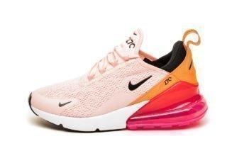 Nike Wmns Air Max 270 (Washed Coral / Black - Laser Fuchsia)