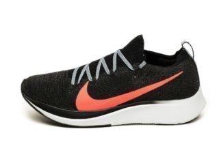 Nike Zoom Fly Flyknit (Black / Bright Crimson - Obsidian Mist)