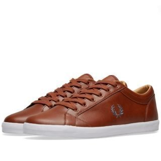 Fred Perry Baseline Leather Sneaker (Brown)