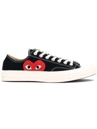 Comme Des Garçons Play canvas sneakers met hartjesprint (zwart)