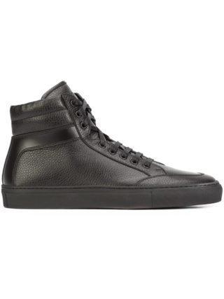 Koio 'Primo Nero' hi-top sneakers (zwart)