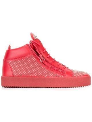 Giuseppe Zanotti Connor mid-top sneakers (rood)
