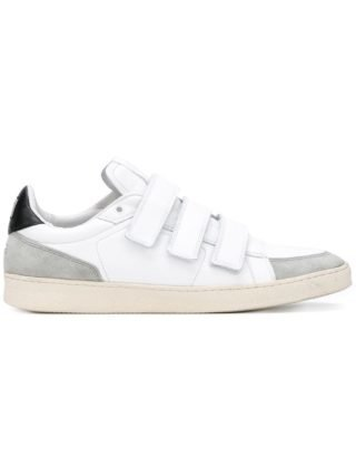 Ami Alexandre Mattiussi 3 strap thin low sneakers (wit)