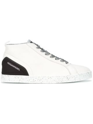 Hogan Rebel speckled sole lace-up sneakers - Wit