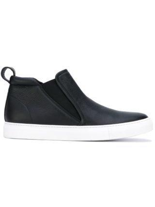 Aiezen mid-top slip-on sneakers (zwart)