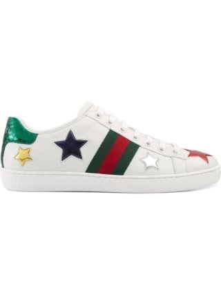 Gucci Ace lage sneaker (wit)