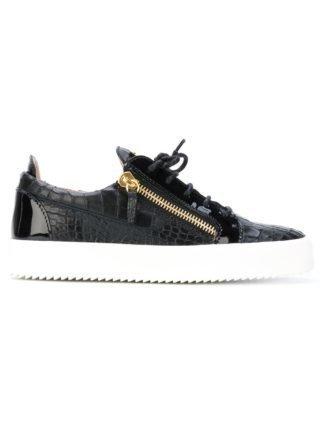Giuseppe Zanotti Black Patent Frankie sneakers - Zwart