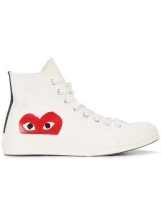 Comme Des Garçons Play Comme des Garcons Speel x Converse Chuck Taylor sneakers (wit)