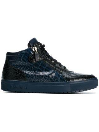 Baldinini sneakers met krokodilleneffect (blauw)