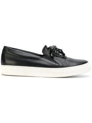 Versace Medusa slip-on sneakers (zwart)