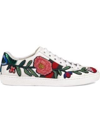 Gucci Ace geborduurde sneaker - Wit