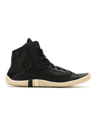 Osklen leren hi-top sneakers (zwart)