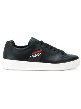 Prada Lage top logo sneakers (zwart)
