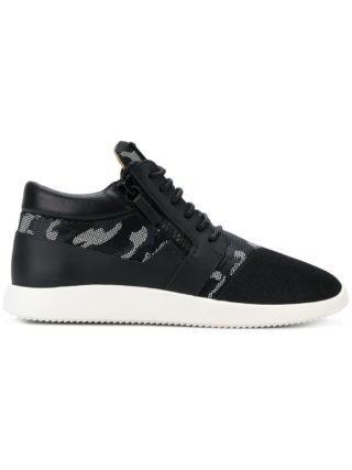 Giuseppe Zanotti Runner camouflage sneakers - Zwart