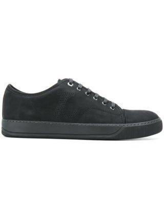 Lanvin perforated low-top sneakers (zwart)