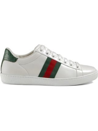 Gucci Ace leather sneakers (wit)